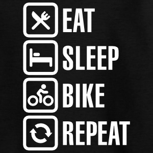 Eat sleep bike repeat  Tee shirts - T-shirt Enfant