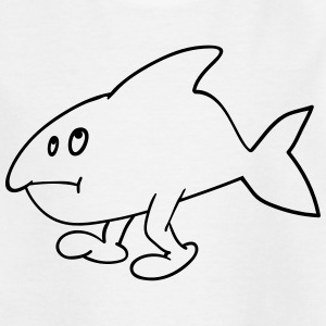 Fish with feet Shirts - Teenage T-shirt