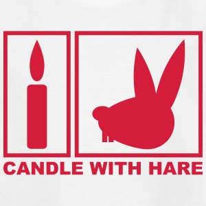 Candle with Hare - Handle with Care T-shirts - T-shirt tonåring