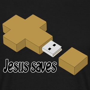 jesus saves usb Tee shirts - T-shirt Homme