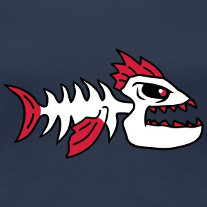 Fish Bone Punk Monster T-Shirts - Women's Premium T-Shirt