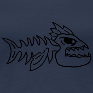 Fish Bone Punk Monster T-shirts - Premium-T-shirt dam