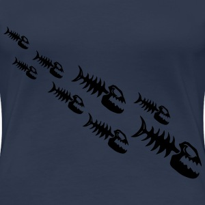 Fish Bone Monsters T-skjorter - Premium T-skjorte for kvinner