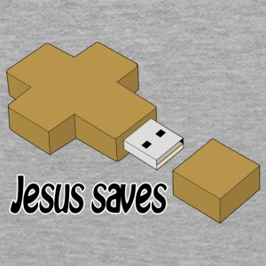 jesus saves usb Hoodies & Sweatshirts - Women's Premium Hoodie
