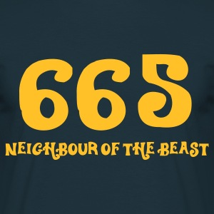 665 - The Neighbour of the Best (1c, ENG) - Mannen T-shirt