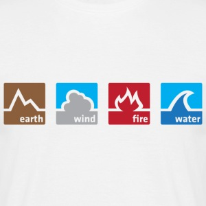 Earth Wind Fire Water (DT, NEU) - Men's T-Shirt