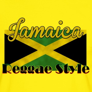 Tee Shirt contraste Jamaica Reggae Style - T-shirt contraste Homme