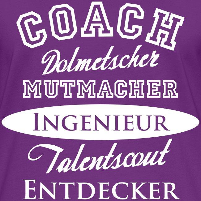Frauen Kontrast-Shirt Motiv Coach