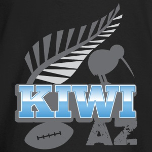 KIWI AZ New Zealand with a rugby ball and bird Long Sleeve Shirts - Baby Long Sleeve T-Shirt