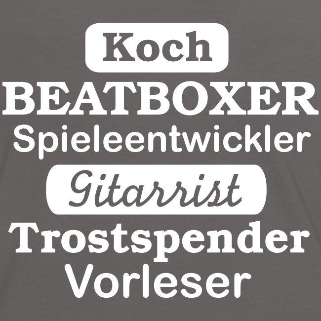 Frauen Kontrast-Shirt Motiv Beatboxer
