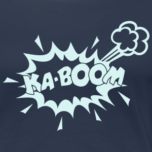 KABOOM, comic speech bubble, cartoon, word balloon Tee shirts - T-shirt Premium Femme