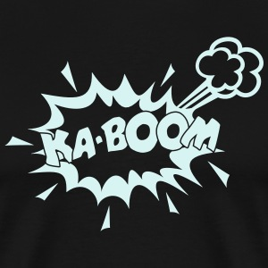 KABOOM, comic speech bubble, cartoon, word balloon T-shirts - Mannen Premium T-shirt