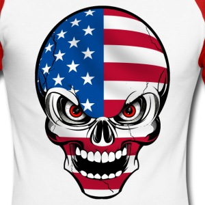 United States skull Long sleeve shirts - Men's Long Sleeve Baseball T-Shirt