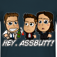 Design ~ Chibi Supernatural - Hey Assbutt Shirt