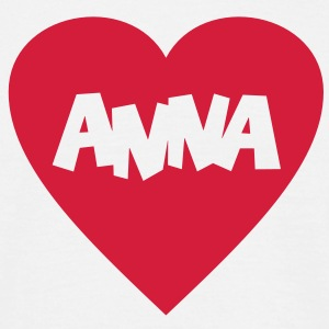 I Love Anna T-Shirt - Herre-T-shirt