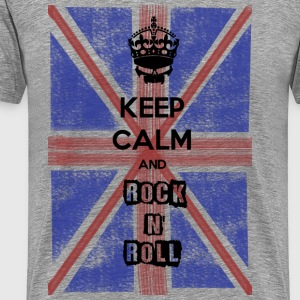 Keep Calm and RnR British Magliette - Maglietta Premium da uomo