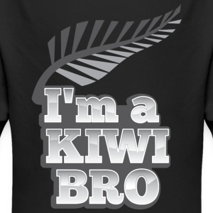 I'm a KIWI BRO with silver fern New Zealand Hoodies - Longlseeve Baby Bodysuit