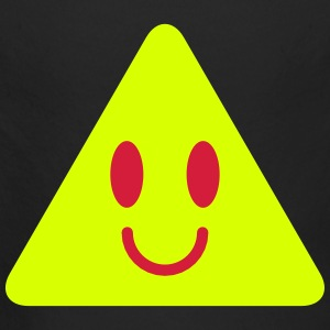 cute funny yellow triangle smiley smiling Hoodies - Longlseeve Baby Bodysuit