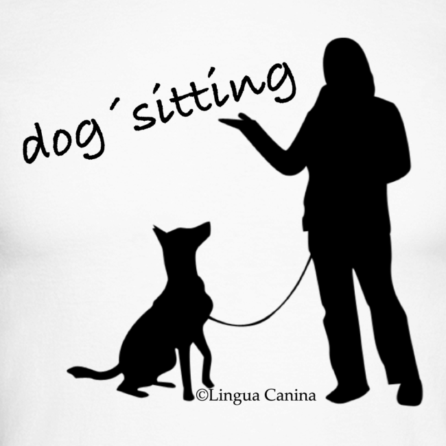 dog sitting - langarm Shirt, Herren
