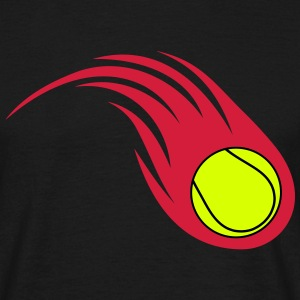 tennis ball fireball - Men's T-Shirt