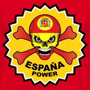 Spain power skull Tee shirts - T-shirt Homme