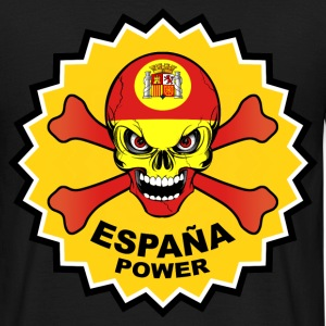 Spain power skull T-Shirts - Men's T-Shirt