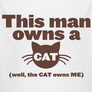THIS MAN OWNS A CAT (well the cat owns me) Hoodies - Longlseeve Baby Bodysuit