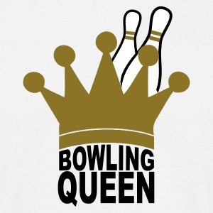 White bowling queen Men's Tees - Men's T-Shirt