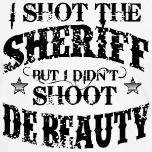I Shot The Sheriff, But Not The Beauty-Black T-Shirts - Men's Ringer Shirt