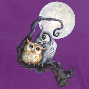 Purple/white Moon love T-Shirts - Women's Ringer T-Shirt
