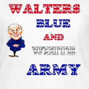 Walter smiths blue and white army t shirt  - Women's T-Shirt