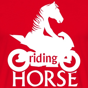 riding Horse Tee shirts - T-shirt Homme