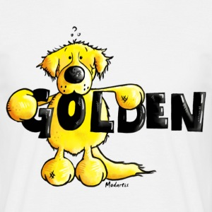 Golden Retriever - Dog - Cartoon - Shirt T-Shirts - Men's T-Shirt