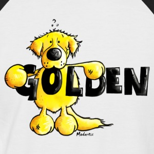 Golden Retriever - Dog - Cartoon - Shirt T-Shirts - Men's Baseball T-Shirt