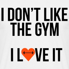 i like the gym Magliette