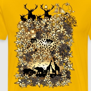 Wildlife art Men's Classic T-shirt - Men's Premium T-Shirt
