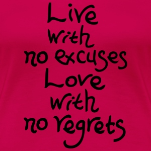 Love with no regrets Women's Ringer T-shirt - Women's Premium T-Shirt