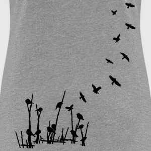 Flying birds nature Women's Ringer T-shirt - Women's Premium T-Shirt