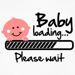 Baby loading - please wait T-Shirts - Men's V-Neck T-Shirt