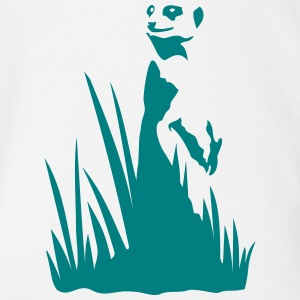 Meerkat in the grass Shirts - Organic Short-sleeved Baby Bodysuit