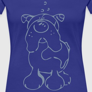 Englische Bulldogge - Cartoon - Hund T-Shirts - Frauen Premium T-Shirt