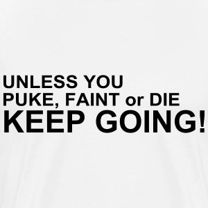 Keep Going T-shirts - Herre premium T-shirt