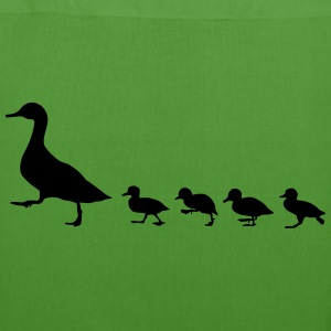duck family, duck and ducklings - EarthPositive Tote Bag