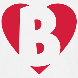 I love B T-Shirt - Heart B - Letter B - Men's T-Shirt