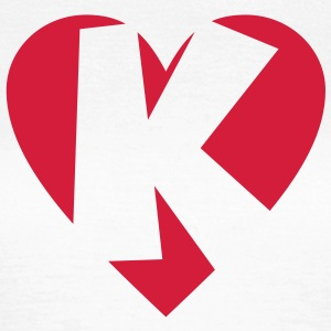I love K T-Shirt - Heart K - Letter K - Women's T-Shirt