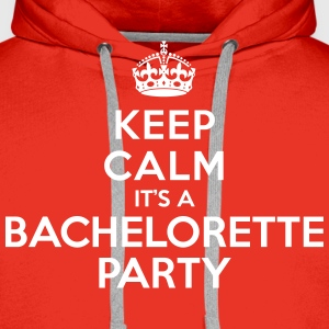 Keep calm it's a Bachelorette party Sweat-shirts - Sweat-shirt à capuche Premium pour hommes