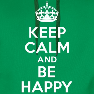 Keep calm and be happy Sweat-shirts - Sweat-shirt à capuche Premium pour hommes