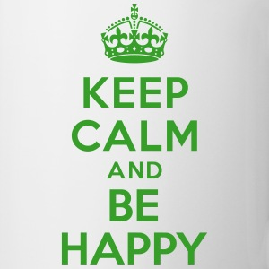 Keep calm and be happy Bouteilles et tasses - Tasse