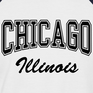 chicago_illinois T-Shirts - Männer Baseball-T-Shirt