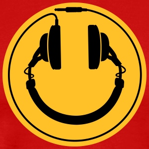 Headphones smiley wire plug T-Shirts - Männer Premium T-Shirt